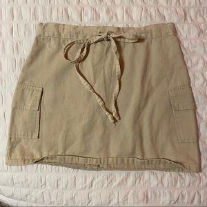 579 Khaki Mini Skirt